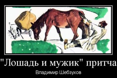 Лошадь и мужик