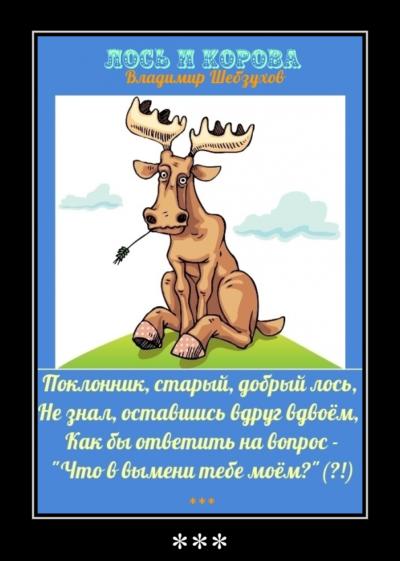 Лось и корова